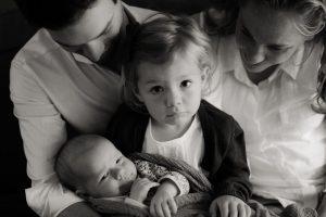 Photo of Goldilocks founder Shem Richards and family.