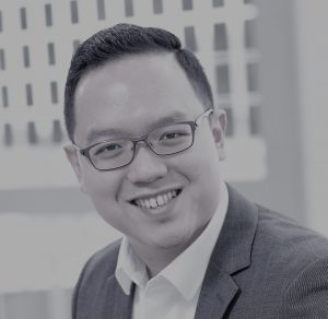 Black and white photo of Joshua Lim, MedTech Actuator