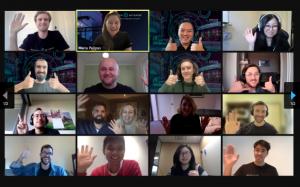 Screenshot of Zoom call, MedTech Actuator Cohort 6, July 2021